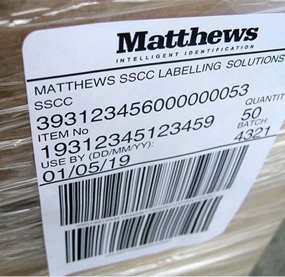 Product, Carton and Pallet Labelling